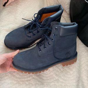 "Men's navy monochrome 6"" timberland boots 6"